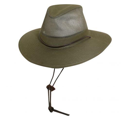 Dorfman-Pacific---UV-Safari-hoed-voor-heren---Donkergroen