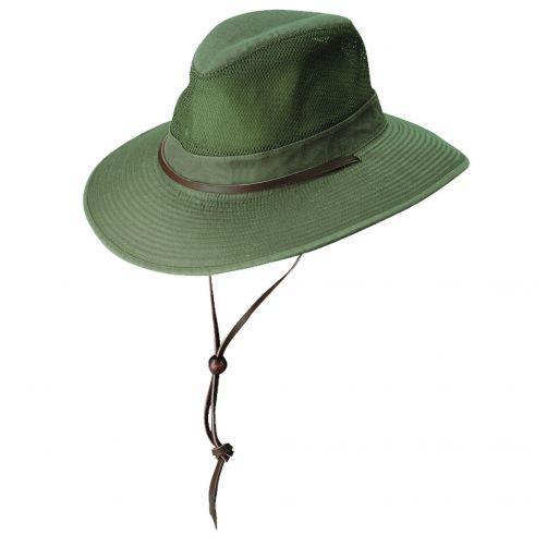 Dorfman-Pacific---UV-ventilerende-hoed-voor-heren---Olijfgroen