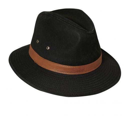 Dorfman-Pacific---UV-Fedora-hoed-voor-heren---Zwart
