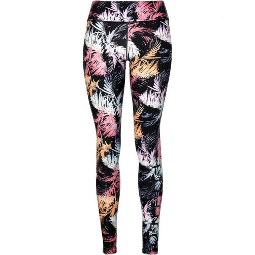 O'Neill---UV-legging-voor-dames---Black-AOP-/-Pink-zwart-roze