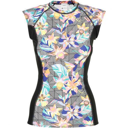 O'Neill---UV-zwemshirt-voor-dames---Mix-&-Match---Black-graphic-/-Pink