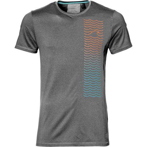 O'Neill---UV-shirt-voor-heren---Shoreline---Dark-Grey-Melee-grijs