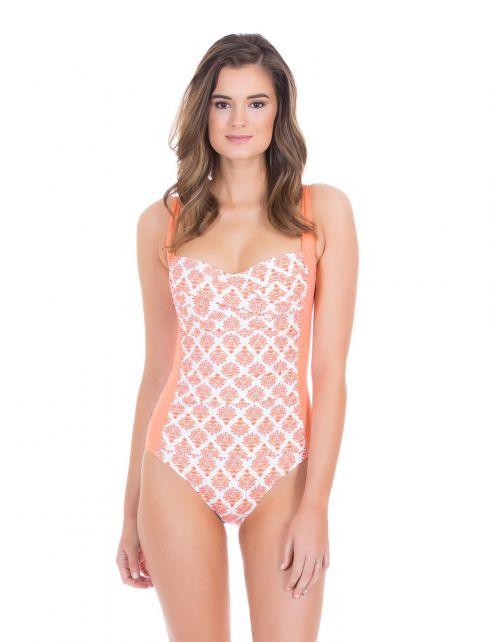 Cabana-Life---UV-badpak-voor-dames---Oranje/Wit
