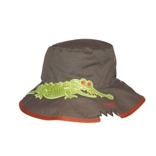 Rigon---UV-bucket-hoed-voor-kinderen---Khaki-croc