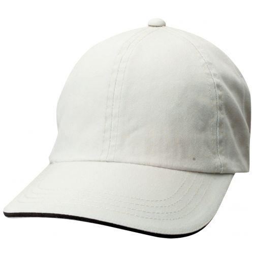 Dorfman-Pacific---Verstelbaar-pet-voor-heren---Wit/Zwart