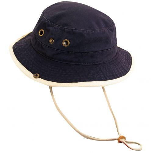 Dorfman-Pacific---UV-hoed-voor-kinderen---Donkerblauw/Gebroken-wit