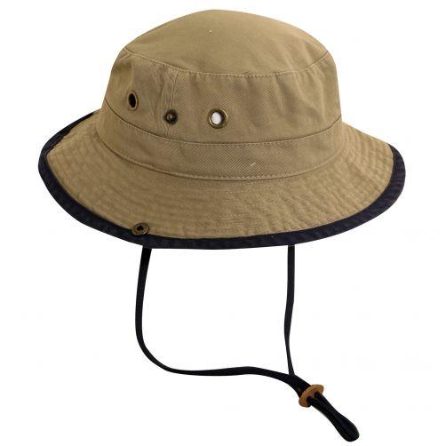 Dorfman-Pacific---UV-hoed-voor-kinderen---Kaki/Donkerblauw