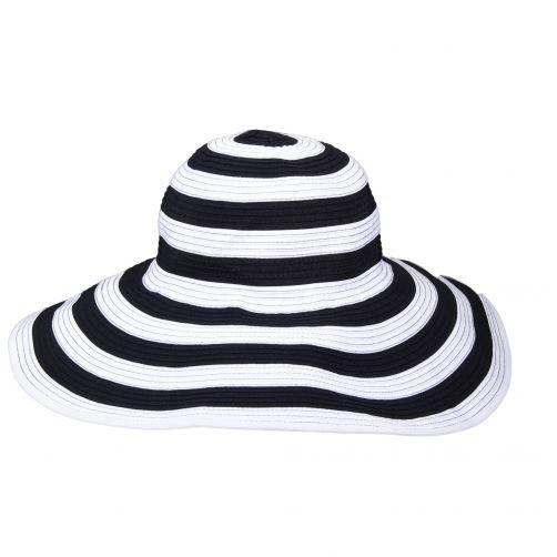 Scala---UV-vormbare-zonnehoed-voor-dames---Zwart/Wit