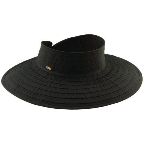 Scala---Oprolbare-visor-voor-dames---Zwart
