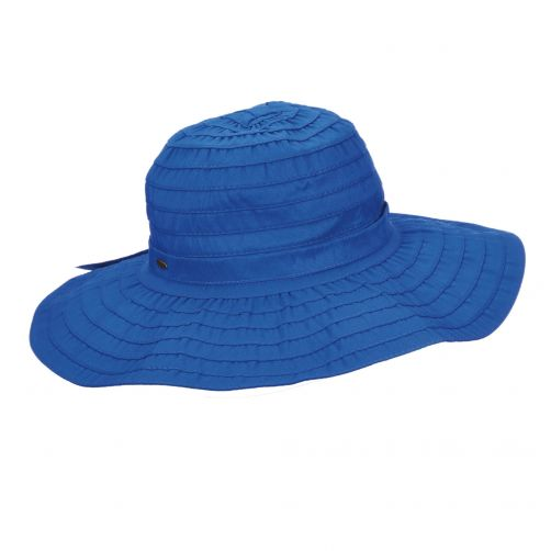 Scala---UV-vormbare-strandhoed-voor-dames---Kobalt-blauw