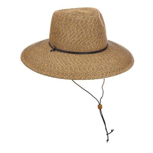 Scala---UV-gevlochten-hoed-voor-dames---Bruin