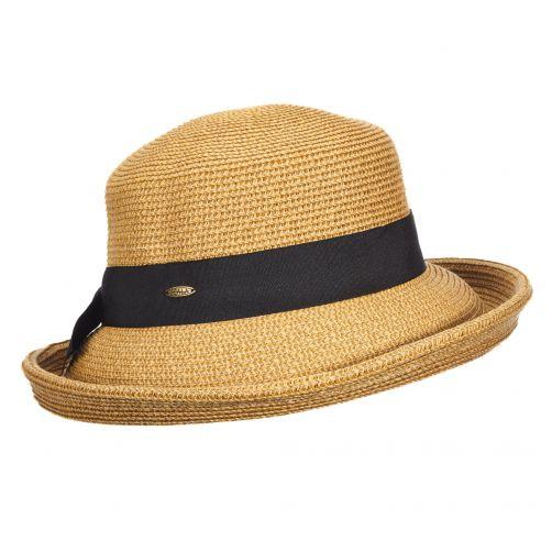 Scala---UV-gevlochten-hoed-voor-dames---Beige