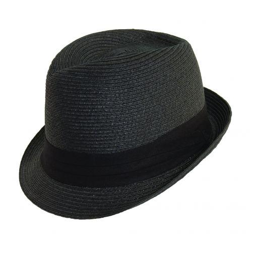 Scala---Fedora-papieren-hoed-voor-dames---Zwart