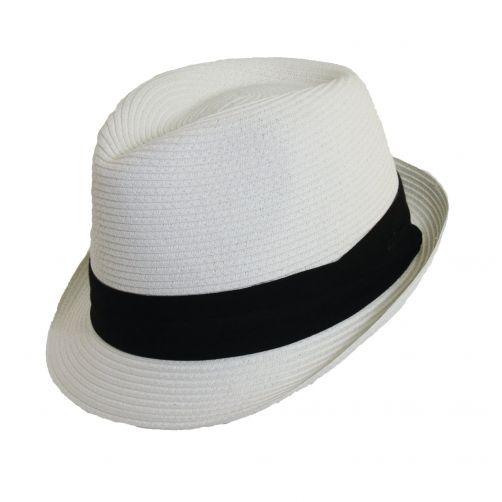 Scala---Fedora-papieren-hoed-voor-dames---Wit