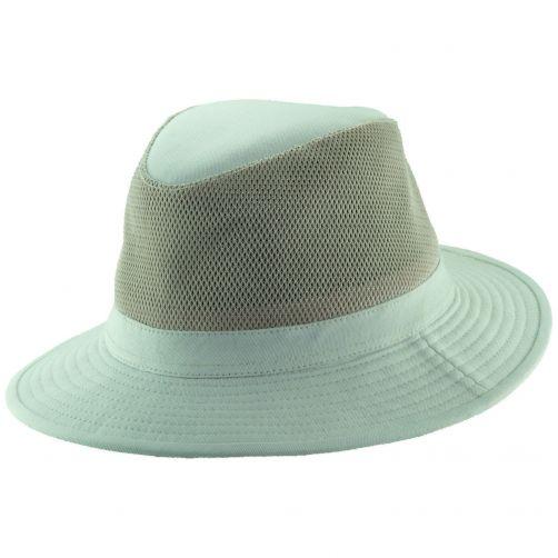 Dorfman-Pacific---Safari-katoenen-hoed-voor-heren---Gebroken-wit