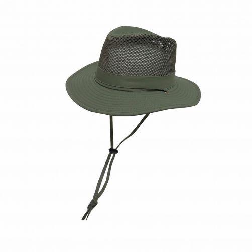 Dorfman-Pacific---UV-Safari-hoed-voor-heren---Olijfgroen
