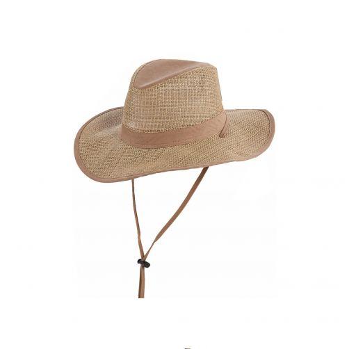Dorfman-Pacific---UV-Safari-seagrass-hoed-voor-heren---Kaki