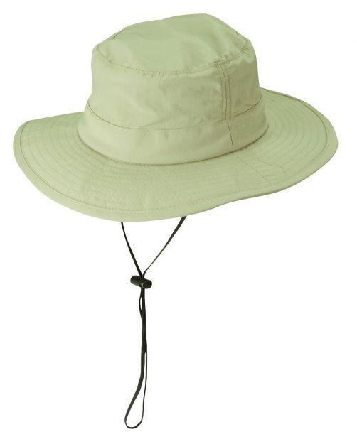Dorfman-Pacific---UV-verstelbaar-hoed-voor-heren---Kaki