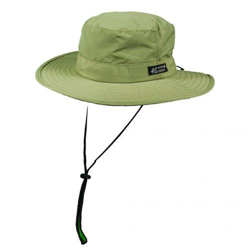 Dorfman-Pacific---UV-verstelbaar-hoed-voor-heren---Donkergroen