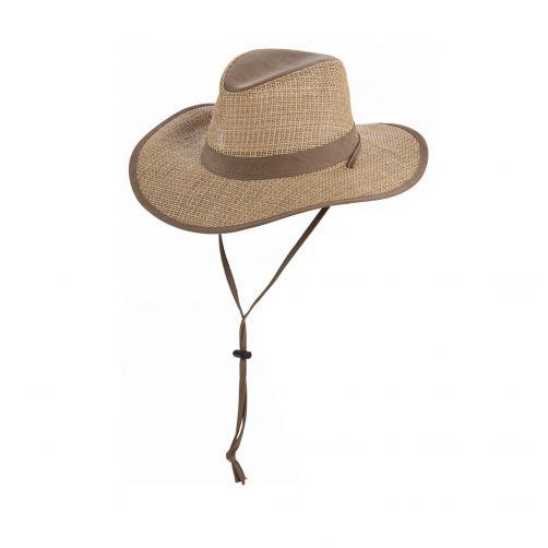 Dorfman-Pacific---UV-Safari-seagrass-hoed-voor-heren---Olijfgroen