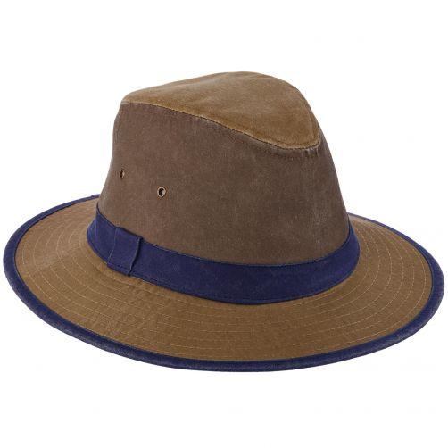 Dorfman-Pacific---UV-stoere-strandhoed-voor-heren---Kaki
