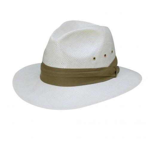 Dorfman-Pacific---Safari-Toyo-hoed-voor-heren---Kaki