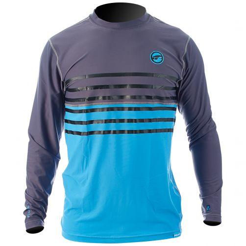Prolimit---UV-shirt-voor-heren---Grijs-/-Cyaanblauw
