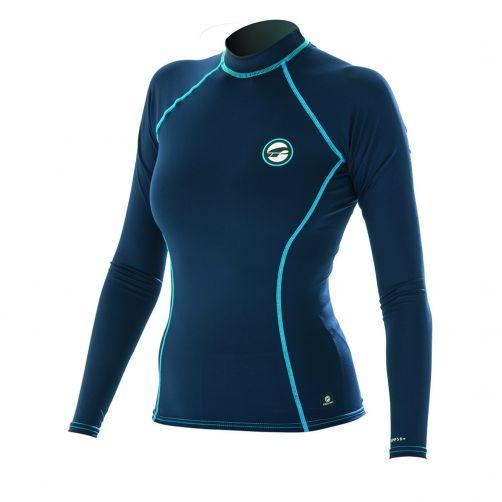 Prolimit---Zwemshirt-voor-dames-met-lange-mouwen---donkerblauw