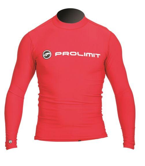 Prolimit---Zwemshirt-voor-heren-met-lange-mouwen---Rood
