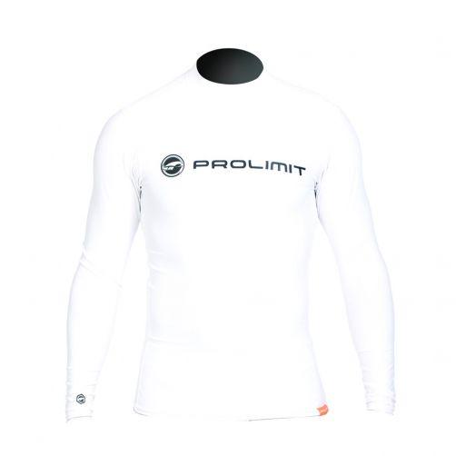 Prolimit---Zwemshirt-voor-heren-met-lange-mouwen---Wit