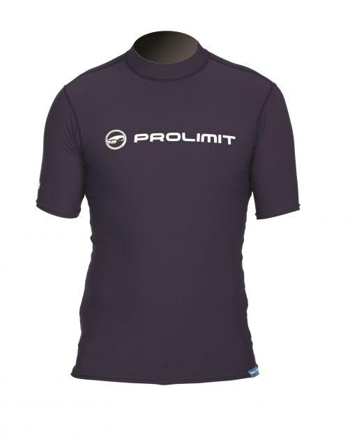 Prolimit---Zwemshirt-voor-heren-met-korte-mouwen---Slate-Black-zwart