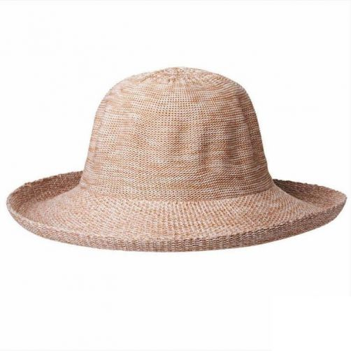 Rigon---UV-zonnehoed-voor-dames---Gemengd-kameelgeel