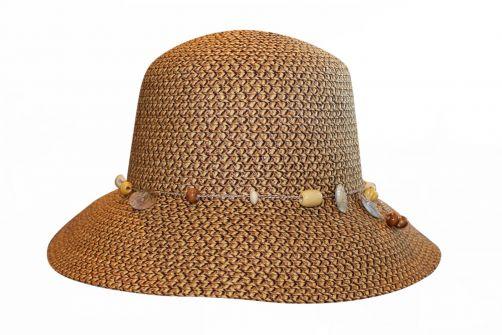 Rigon---UV-bucket-hoed-voor-dames---Chocoladebruin-gevlekt