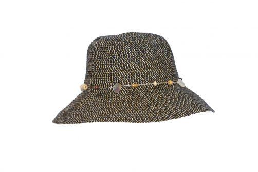 Rigon---UV-bucket-hoed-voor-dames---Navy-blauw-gevlekt