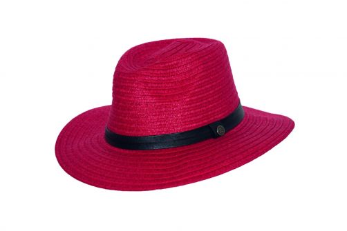 Rigon---UV-fedorahoed-voor-vrouwen---Ruby-rood