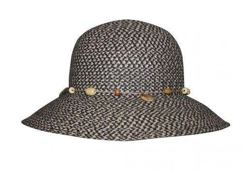 Rigon---UV-bucket-hoed-voor-dames---Steenkoolgrijs-gevlekt