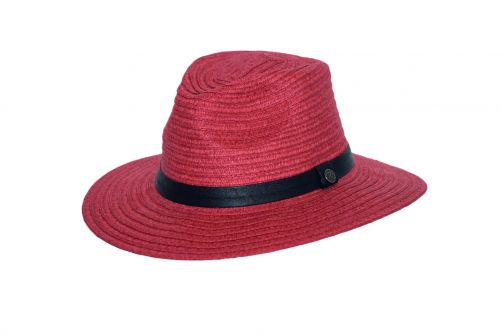 Rigon---UV-fedorahoed-voor-vrouwen---Masala-rood
