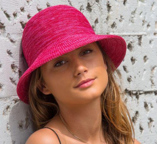 Rigon---Bucket-hoed-voor-dames---Raspberry-roze