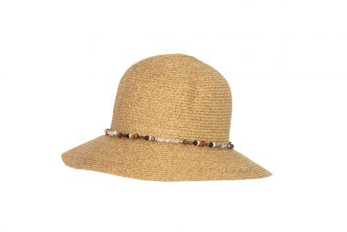 Rigon---UV-bucket-hoed-voor-dames-met-kralen---Naturel