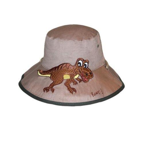 Rigon---UV-bucket-hoed-voor-kinderen---Khaki-dino