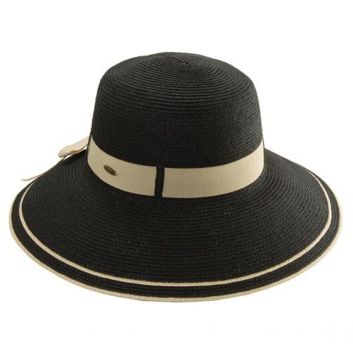 Scala---UV-werende-gevlochten-hoed-voor-dames---Zwart