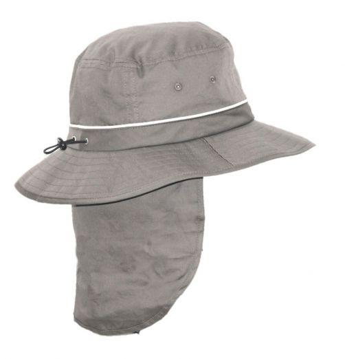 Rigon---UV-Bucket-hoed-voor-heren-met-nekflap---Grijs